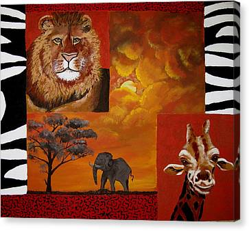 Out Of Africa Canvas Print by Susan McLean Gray