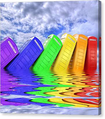 Out Of Order - A Rainbow - Kingston - Surrey Canvas Print by Colin J Williams Photography