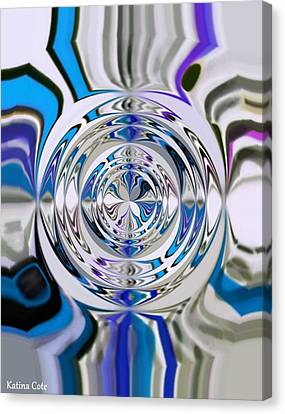 Out Of The Blue 2 Canvas Print by Katina Cote