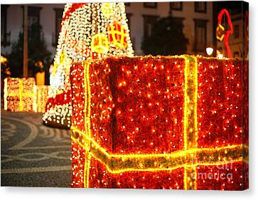 Outdoor Christmas Decorations Canvas Print by Gaspar Avila