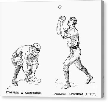 Outfielder, 1889 Canvas Print by Granger