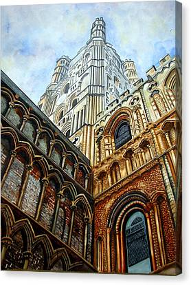Outside Ely Cathedral Canvas Print by Emmanuel Turner