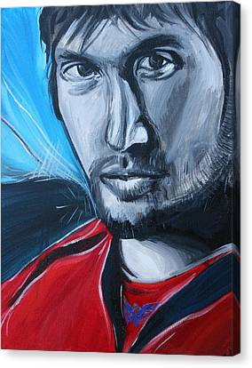 Ovechkin Canvas Print by Kate Fortin