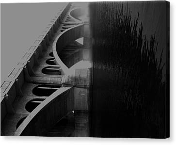 Over The Bridge Canvas Print by JC Photography and Art