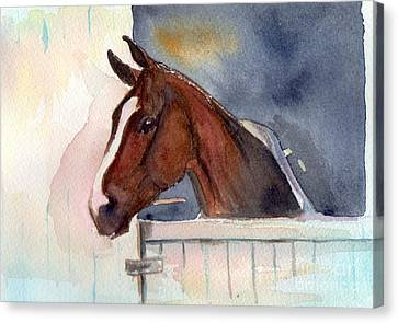 Over The Top Canvas Print by Maria's Watercolor