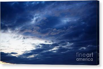 Overcast Sky In The Morning Canvas Print by Gabriela Insuratelu