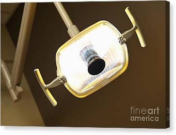 Overhead Dentist Lamp Canvas Print by Jetta Productions, Inc