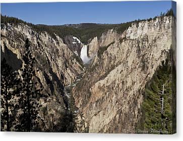 Overlook Falls Canvas Print by Charles Warren