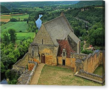 Overlooking The French Countryside Canvas Print by Dave Mills