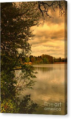 Overlooking The Lake Canvas Print by Jutta Maria Pusl
