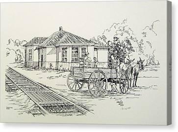 Ozark Depot Canvas Print by Charles Sims