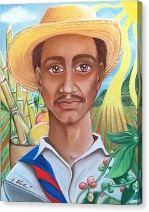 Padre Tierra Canvas Print by Xiomara Aleksic