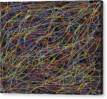 Pain  Abstract  Expressionism Canvas Print by Carl Deaville