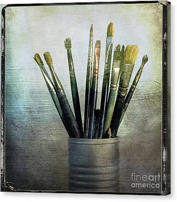 Paintbrushs Canvas Print by Bernard Jaubert