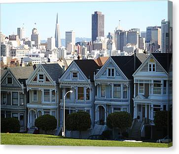 Painted Ladies Canvas Print by Linda Woods