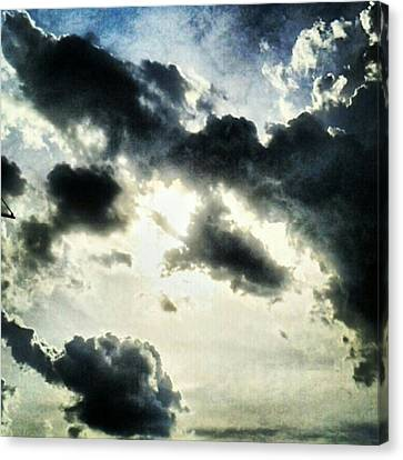 #painted #sky #instadroid #andrography Canvas Print by Kel Hill