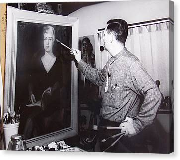Painting A Portrait Canvas Print by Bill Joseph  Markowski