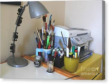 Painting Gear By Printer Canvas Print by Phong Trinh