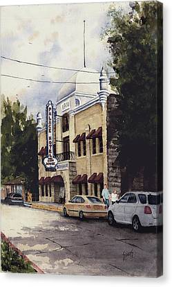 Palace Hotel Canvas Print by Sam Sidders