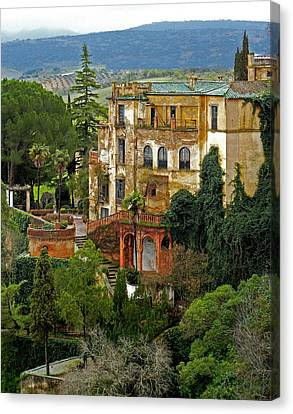 Palace Of The Arabian King - Ronda Canvas Print by Juergen Weiss