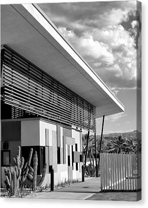 Palm Springs Animal Shelter Bw Palm Springs Canvas Print by William Dey