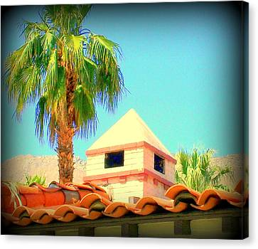 Palm Springs Pyramid Colonial Canvas Print by Randall Weidner