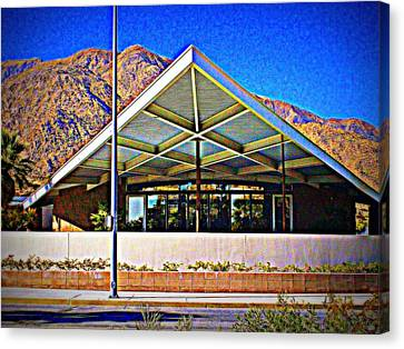 Palm Springs Visitor Center Tramway Gas Station Canvas Print by Randall Weidner