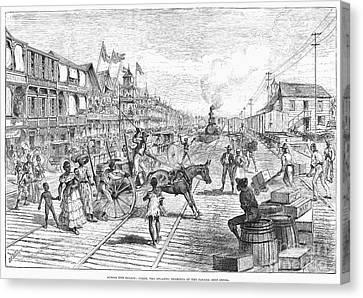 Panama Railway, 1888 Canvas Print by Granger