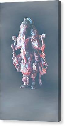 Panchamukha Ganesha 2 Canvas Print by Usha Shantharam