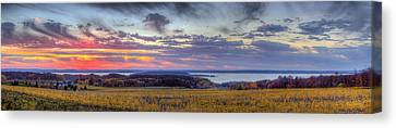 Panorama From Old Mission Peninsula Canvas Print by Twenty Two North Photography