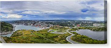 Panorama View Of St. John's Newfoundland And Labrador Canada Canvas Print by Steve Hurt