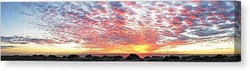Panoramic Beach Sunset Canvas Print by John Myers
