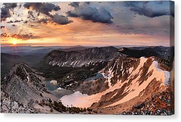Panoramic Cdt Sunrise Canvas Print by Leland D Howard
