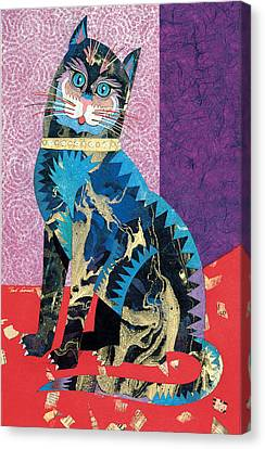 Paper Cat Canvas Print by Bob Coonts