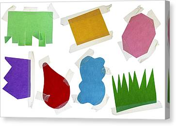 Paper Multi-colored Blank Slices  For Notes Canvas Print by Aleksandr Volkov