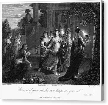 Parable Of Virgins Canvas Print by Granger