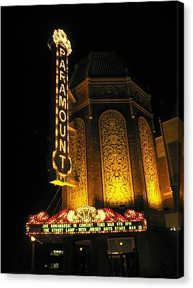 Paramount Theatre Illinois Canvas Print by Todd Sherlock