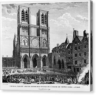 Paris: Notre Dame, 1790 Canvas Print by Granger