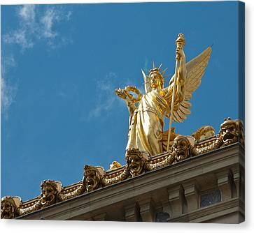 Paris Opera House V   Exterior Facade Canvas Print by Jon Berghoff
