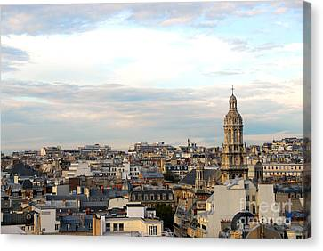 Paris Rooftops Canvas Print by Elena Elisseeva