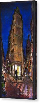 Paris Street 2 Canvas Print by Yuriy  Shevchuk