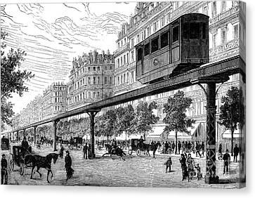 Paris: Tramway, 1880s Canvas Print by Granger