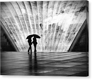 Paris Umbrella Canvas Print by Nina Papiorek