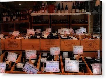 Paris Wine Shop Canvas Print by Andrew Fare