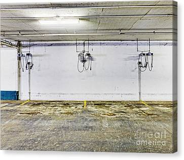 Parking Garage With Charging Stalls Canvas Print by Skip Nall