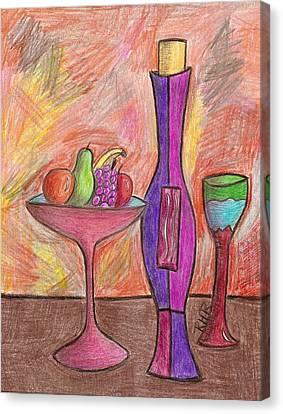 Party Of One Canvas Print by Ray Ratzlaff