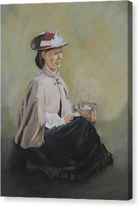 Patiently Waiting Canvas Print by Joyce Reid