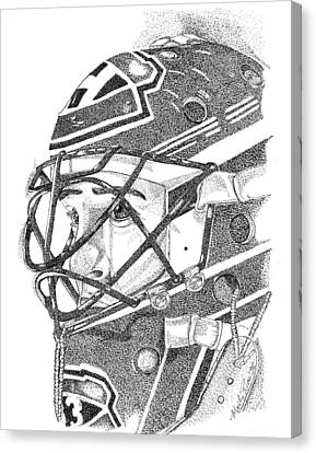 Patrick Roy Portrait Canvas Print by Marty Rice