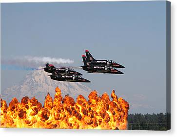 Patriot Flyby Canvas Print by David Zinkand