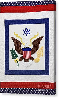 Patriotic Quilt Canvas Print by Jeremy Woodhouse